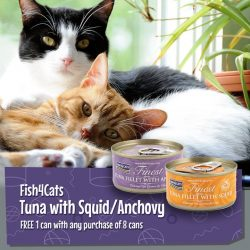 [Pet Lovers Centre Singapore] Cats love the taste and aroma of fish making Fish4Cats a healthy and delicious meal.