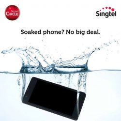 [Singtel] With Singtel Circle's $350 annual handset upgrade fee waiver, a soaked phone could mean a new phone.