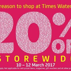 Waterway Point: Enjoy 20% OFF Storewide at Times Bookstores!