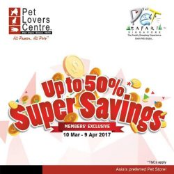 [Pet Lovers Centre Singapore] Super savings!