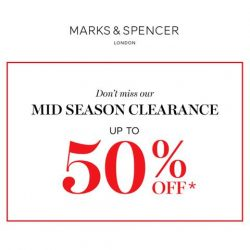 [Marks & Spencer] Start clearing your wardrobe in preparation for our Mid Season Clearance.