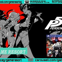 [GAME RESORT] PS4 Persona 5 Standard Edition R3,*(PS4 Persona 5 Take Your Heart Edition Will Only Arrive On 4th April)*Persona