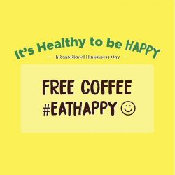[Workspace Espresso & Bar] Be EXCITED for Monday as 20 March is International Day of Happiness!