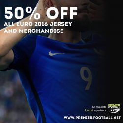 [Premier Football Singapore] 50% off all Euro 2016 jersey and merchandise.