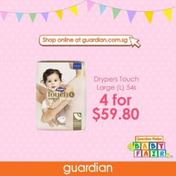 [Guardian] Drypers Touch offers premium softness to provide your baby with ultimate comfort!