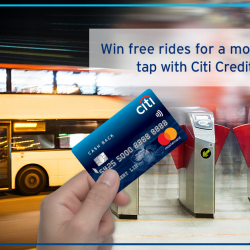 [Citibank ATM] You can now tap & ride on trains and buses with Citi Credit Mastercard.