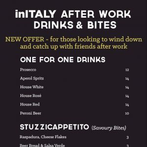 [In Italy] One for One drinks at inITALY tonight