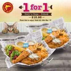 [The Manhattan FISH MARKET Singapore] LAST 4 DAYS to enjoy our 1-for-1 Dory 'n Chips x Pollock!