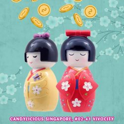 [Candylicious] These sweet smiling Japanese Doll design coin banks is one of the favorite among mummies.