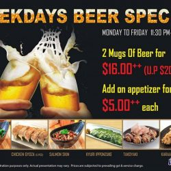 [Otaru Suisan] Weekdays Beer Special!