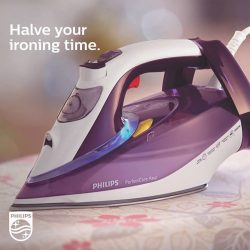 [Philips] Here's a HouseHack to save time on your ironing: just pop a sheet of aluminium foil under the garment