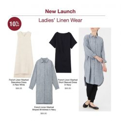 [MUJI Singapore] Stay cool and comfortable in our new collection of Linen.