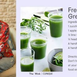 [Clinique] Give your skin a brightening boost from the inside out with our Fresh-Faced Green Juice recipe by Rosemary Ferguson.