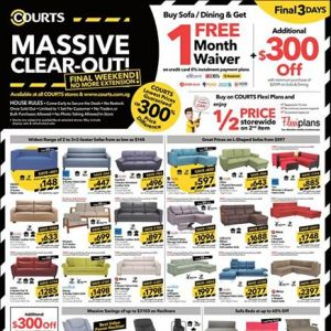 [Courts] LAST CHANCE to grab the ULTIMATE DEALS storewide at FACTORY OUTLET PRICES!
