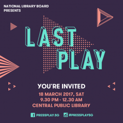 [Sengkang Public Library] Join us this Saturday for the closing event of PressPlay, an annual youth arts festival organised by the Arts & Culture