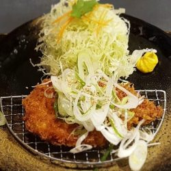 [Ma Maison Restaurant Singapore] Today's Daily Lunch atTonkatsu Bistro by Ma Maison at Westgate isNegi Shio SauceComes with Rice, Tonjiru,