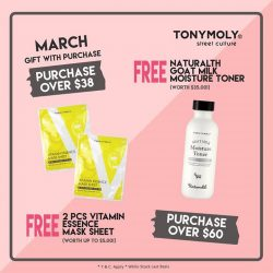 [Tony Moly Singapore] Monthly GWP is here!