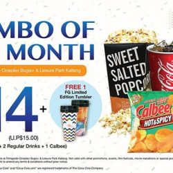 [Filmgarde Cineplex] For just $14, you can get 1 regular popcorn, 2 regular drinks, 1 Calbee Hot & Spicy Potato Chips and a