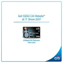 [Citibank ATM] Don't miss out on the Citibank M1 Card Exclusive at IT Show 2017.
