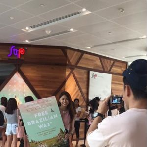 [Strip & Browhaus] Influencer Xin Lin showing her support at Strip's FREE Brazilian Wax Day!