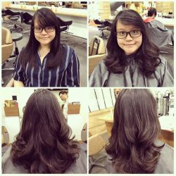 [Hair Story By C&C at 313Somerset] She did a hair cut & digital  perm done by Senior Director Chris.