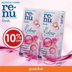 [Guardian] Specially designed to increase wearing comfort with a gentle pH-balanced formulation, renu fresh for Colour is the prefer solution