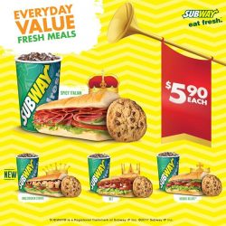 [Subway Singapore] Taste = King Promo = QueenWe bring you double the value for just $5.