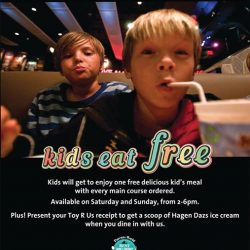 [Babies'R'Us] Hard Rock Cafe is offering a free kid's meal for every main course ordered!