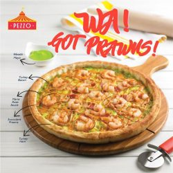 [Pezzo Pizza SG] Handmade freshly everyday, be sure to try our new Wasabi Prawns pizza which combines wasabi mayonnaise and tangy Marie Rose