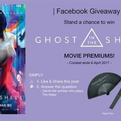 [Filmgarde Cineplex] Stand a chance to win GHOST IN THE SHELL movie premiums!