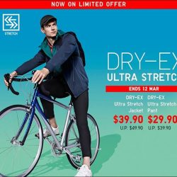 [Uniqlo Singapore] Sweat it out with the Men's Dry-EX Ultra Stretch Full Zip Jacket and Ankle Length Pants.