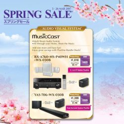 [YAMAHA MUSIC SQUARE] Enjoy great discount on selected Audio & Visual products during Yamaha Spring Sale and receive a $50 CapitaLand voucher if you