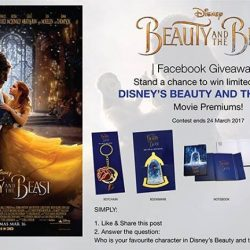 [Filmgarde Cineplex] Stand a chance to win DISNEY'S BEAUTY AND THE BEAST movie premiums!