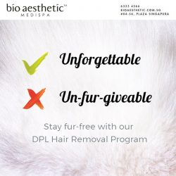 [Bio Aesthetic] Stay dur-free with our DPL Hair Removal program from $38, read more at: http://bioaesthetic.