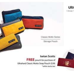 [Isetan] Exclusive at Isetan Scotts Level 1, Ultrahard is a label from Taiwan offering a range of bag accessories like pouches.