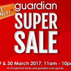 Guardian: Super Sale Up to 80% OFF + Receive $5 Voucher with UOB Cards!