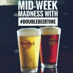 [Hard Rock Café] It's mid-week madness with doublebeertime at @hardrockcafesingapore and @carlsbergsg all of March!