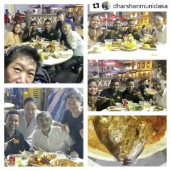 [Tung Lok Seafood] Repost @dharshanmunidasa ・・・ At a local hawker center with @chefliman after day two at TungLok Signatures had to get teammates from