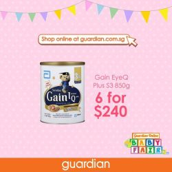 [Guardian] LAST 7 DAYS till the end of our exclusive Guardian Online Baby Fair!