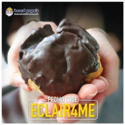 [Beard Papa Singapore] Order through our online ordering website by clicking the 'Shop now' button now and key in promo code 'ECLAIR4ME' and