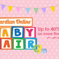 [Guardian] Guardian Online Baby Fair - Enjoy up to 40% discount on more than 40 brands from NOW till 22 March.