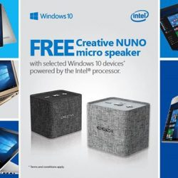 [Best Denki] FREE Creative NUNO micro speaker with selected Windows 10 devices powered by the Intel processor at BEST Denki.