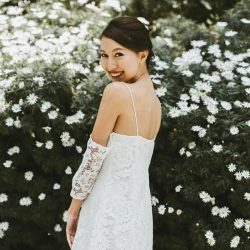 [UOB ATM] Here's style maven Melissa Celestine Koh effortlessly pulling off the latest Spring/Summer look in this delicate white number