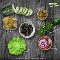 [Subway Singapore] We offer a mix of fruits and vegetables for you to choose when ordering your Sub.