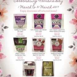[Four Seasons Organic Market] The 8th of March is International Women's Day and here are our Women's Day Specials, products we believe