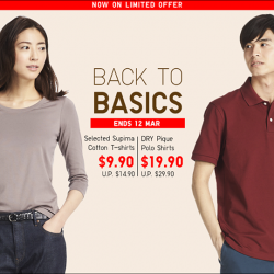 [Uniqlo Singapore] Go back to the basics with the soft and smooth Women's Supima Cotton T-Shirts.