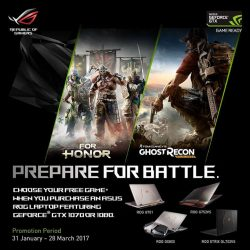[ASUS] Powered by the latest 7th generation Intel Core i7 processor, the all new ROG G701 gaming laptop is now available