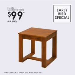 [Scanteak] Bring home our multi-purpose STADIG Occasional Table at just $99!