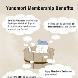 [Yunomori Onsen and Spa] Being our member is easy!