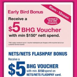 [BHG Singapore] Don't miss out on our BHG BUGIS 1 Day Private Sale EARLY BIRD BONUS happening NOW till 12noon!
